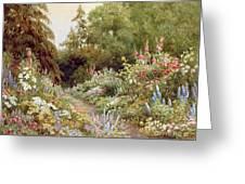 Herbaceous Border  Greeting Card
