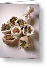 Herbal Teas And Seeds Greeting Card