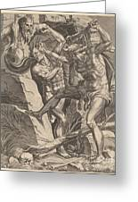 Hercules Killing Cacus Greeting Card