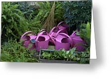 Herd Of Watering Cans Greeting Card
