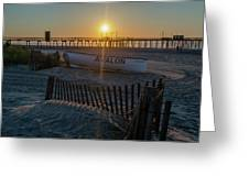 Here Comes The Sun - Avalon New Jersey Greeting Card