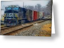 Here Comes The Train Greeting Card