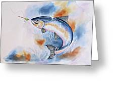 Here Fishy, Fishy Greeting Card