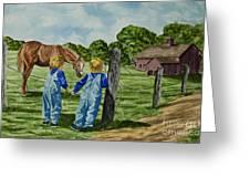 Here Horsey Horsey Greeting Card