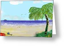 Here I Come Miami Beach Greeting Card