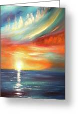 Here It Goes - Colorful Sunset Greeting Card