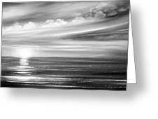 Here It Goes In Black And White Greeting Card