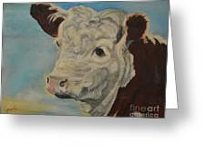 Hereford Profile Greeting Card