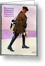 Hermann Scherrer Sporting Tailor - Munich, Germany - Vintage Advertising Poster Greeting Card