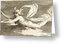 Hermes With Caduceus, 1791 Greeting Card