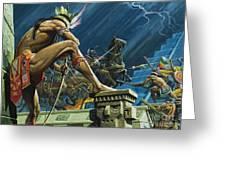 Hernando Cortes Greeting Card