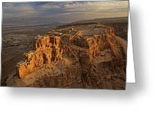 Herods Three-tiered Palace Cascades Greeting Card
