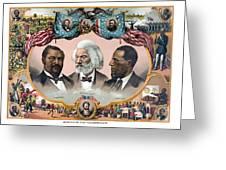 Heroes Of African American History - 1881 Greeting Card