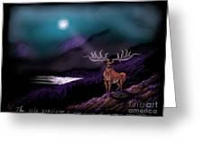 Heroic Landscapes #22- Great Irish Elk Greeting Card