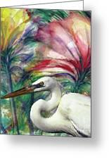 Heron Flair Greeting Card