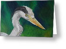 Heron Painting Greeting Card