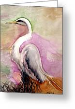 Heron Serenity Greeting Card