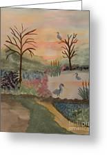 Heron's Hangout At Sunrise Greeting Card
