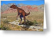 Herrarsaurus In Desert Greeting Card