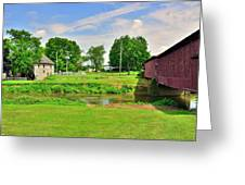 Herr's Grist Mill And Covered Bridge Greeting Card