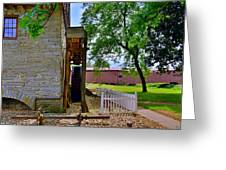 Herr's Mill And Covered Bridge 2 Greeting Card