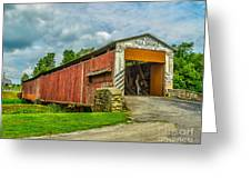 Herr's Mill Bridge - Pa Greeting Card