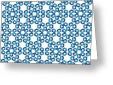Hexagonal Snowflake Pattern Greeting Card
