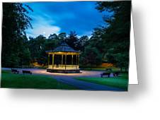 Hexham Bandstand At Night Greeting Card