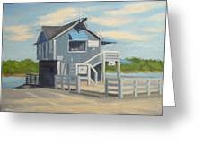 H.h. Boat House Greeting Card