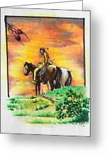 Hi Lighter Pen Painting 2 Greeting Card