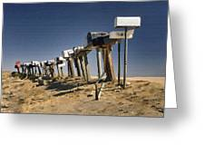 Hi-way 41 Mailboxes Greeting Card