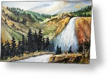 Hiawatha Falls Greeting Card
