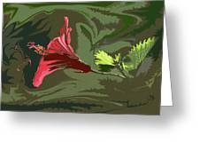 Hibiscus Dark And Light Photopainting 1 Greeting Card
