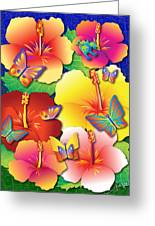 Hibiscus Feast Greeting Card