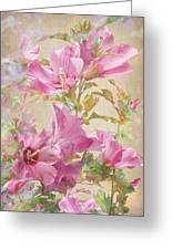 Hibiscus Impression Greeting Card