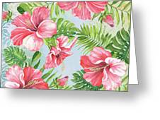 Hibiscus Paradise-jp3965 Greeting Card