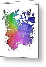 Hibiscus S D Z 2 Cool Rainbow 3 Dimensional Greeting Card
