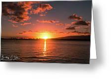 Hickam Sunset Greeting Card