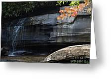 Hickory Nut Falls At Chimney Rock Nc Greeting Card