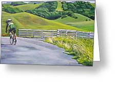 Hicks Valley Bike Ride Greeting Card by Colleen Proppe