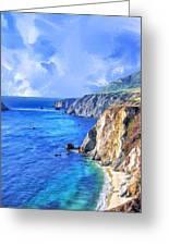 Hidden Beach At Big Sur Greeting Card