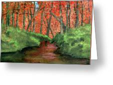 Hidden By Trees Greeting Card