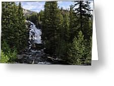 Hidden Falls - Grand Tetons Np Greeting Card