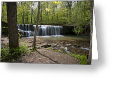 Hidden Falls In Springtime Greeting Card
