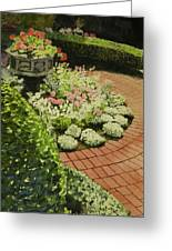 Hidden Garden In Quebec Greeting Card
