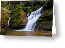 Hidden Hocking Hills Waterfall Ohio Greeting Card