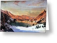 Hidden Lake Western United States Greeting Card