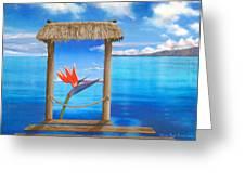 Hidden Paradise Greeting Card by Sharon Ebert