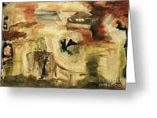 Hidden Places - Contemporary Modern Abstract Art Painting  Greeting Card