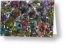 Hide And Seek In Wildflower Bushes Greeting Card